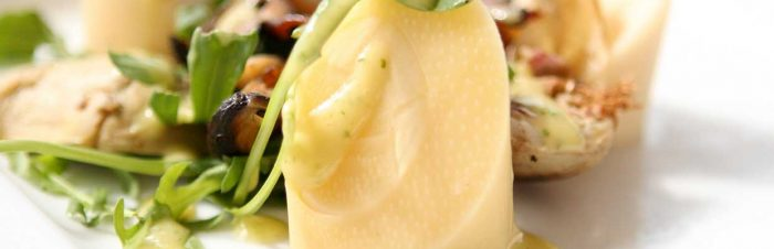 Insalata di indivia cuori di palma e spinaci