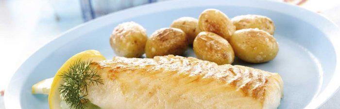 Merluzzo al forno e patate arrosto