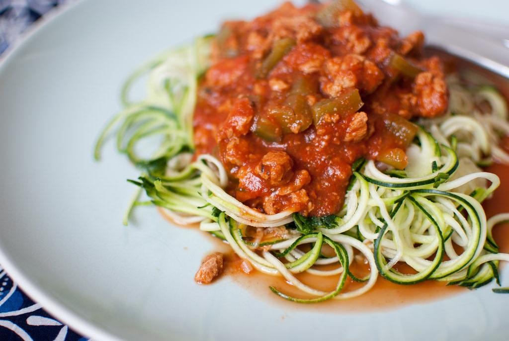 Ricette Per L Ipertensione Spaghetti Di Zucchine Con Ragu Alla